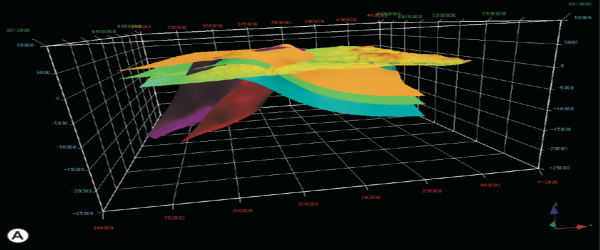 Tierra Amarilla 3D Model AA - structural analysis and modelling. Geological consulting of Terractiva.net